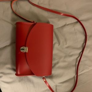 Red Large Push Lock purse